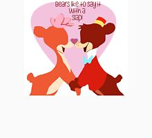 """""""Bears Like to Say it with a Slap!"""" Bongo Lulubelle Valentine's Day Heart Love Romance Pink Red Bear Couple Cartoon Gift Idea Vintage Anniversary T-Shirt"""