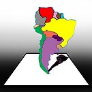 Anamorphic South America by David Fraser