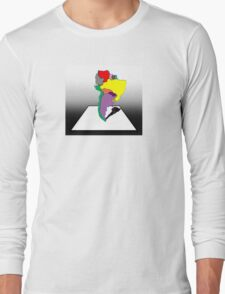 Anamorphic South America Long Sleeve T-Shirt