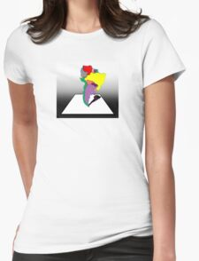 Anamorphic South America Womens Fitted T-Shirt