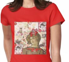 Buttons & Bows Womens Fitted T-Shirt