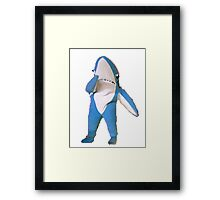 Superbowl Left Shark Framed Print