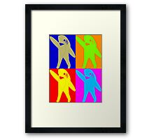 Left Shark Super Bowl POP ART (Warhol) Half Time Dancing Shark 2015 Framed Print