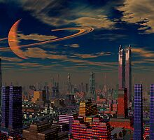 Cities of the Fourth Millennium-Titan City. by AlienVisitor