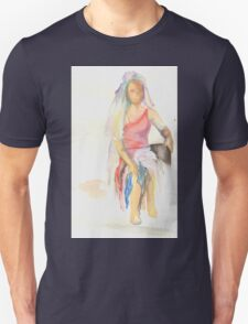 watercolor of a woman Unisex T-Shirt