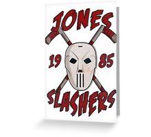 Jones Slashers Mask & CrossSticks Greeting Card
