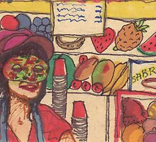 masked lady at coney island by purplestgirl