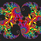 Classic Mandelbrot Fractal with Petals by Jo Newman