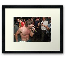 Storming the audience Framed Print