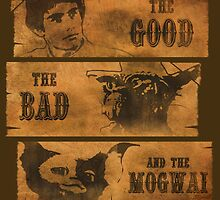 The Good, the Bad and the Mogwai by claygrahamart