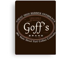 Goff's Brand Chest High Rubber Overpants Canvas Print