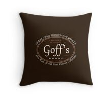 Goff's Brand Chest High Rubber Overpants Throw Pillow