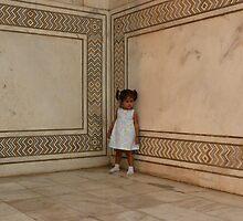 Little Girl at Taj Mahal by Lydia Cafarella