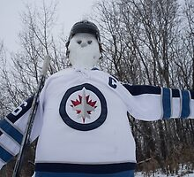 Jets Snowman by Laurie Brand