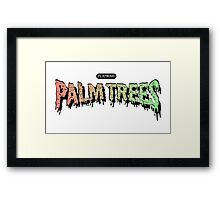 Palm Trees - Mashup! Framed Print