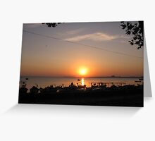 sunset at the sea Greeting Card