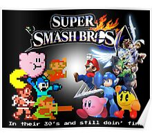 Nintendo Super Smash Bros. NES vs. Wii U/3DS 'Never Old'  Poster