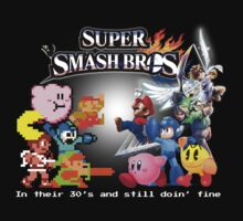 Nintendo Super Smash Bros. NES vs. Wii U/3DS 'Never Old'  One Piece - Long Sleeve