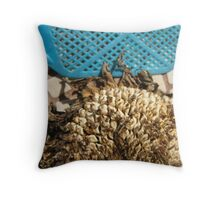 sunflower and flyswatter in downtown Ballground Throw Pillow