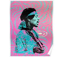 Jimi Hendrix - Psychedelic Sixties by Pepe Psyche Poster