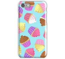 Cupcake Crazy in Blue iPhone Case/Skin