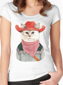 Rodeo Cat Women's Fitted Scoop T-Shirt