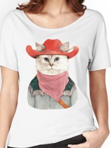 Rodeo Cat Women's Relaxed Fit T-Shirt
