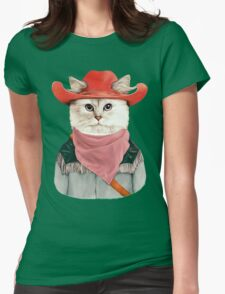 Rodeo Cat Womens Fitted T-Shirt