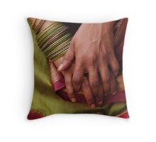 Hands at rest (square crop) Throw Pillow