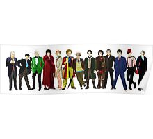 Doctor Who - The 13 Doctors (alternate lineup) Poster