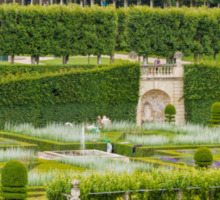 Gardens at the Chateau de Villandry, Loire Valley, France #2 Sticker