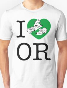I PNW:GB OR (white) Green Heart v2 Unisex T-Shirt