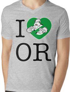 I PNW:GB OR (white) Green Heart v2 Mens V-Neck T-Shirt