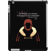Iskandar Quotes White Print iPad Case/Skin