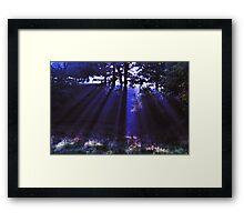 Blue Ray Framed Print