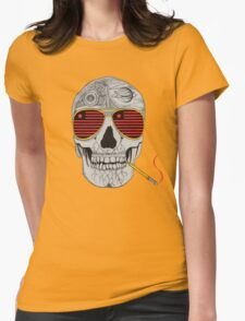 GONZO SKULL Womens Fitted T-Shirt