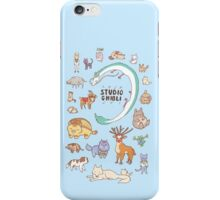 Animals of Studio Ghibli V2 iPhone Case/Skin