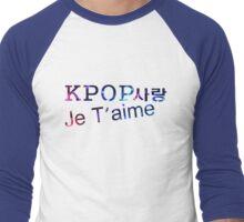 Je t'aime KPOP SARANG Men's Baseball ¾ T-Shirt