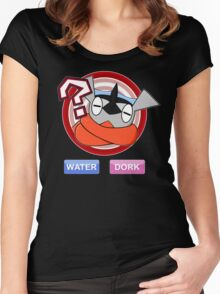 Water / Dork [Shiny] Women's Fitted Scoop T-Shirt