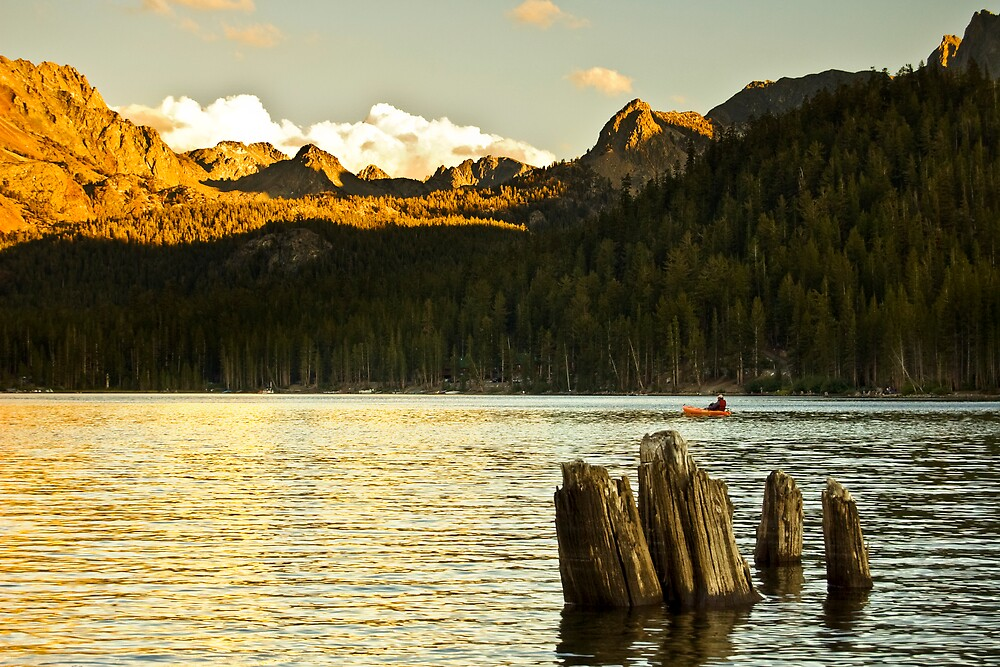 Alpenglow at Lake Mary by Justin Mair