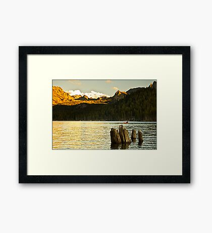 Alpenglow at Lake Mary Framed Print