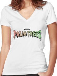 Palm Trees - Mashup! Women's Fitted V-Neck T-Shirt