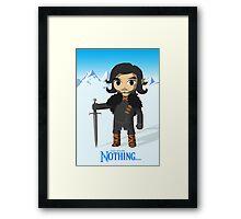 Link Does Jon Snow Cosplay Framed Print