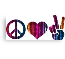 Peace love and more peace Canvas Print