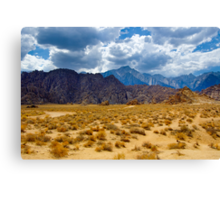 Alabama Hills and the Sierras Canvas Print