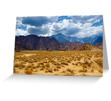 Alabama Hills and the Sierras Greeting Card