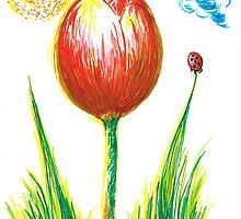 Spring Tulip by Teresa White