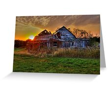 The Sun Has Set on This Old Barn Greeting Card