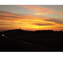 Sunset over Belle Tout Lighthouse Photographic Print