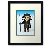 Link Does Jon Snow Cosplay - No text Framed Print